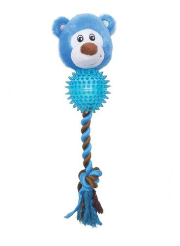 Juguetes soga perros cachorros dogit stuffies oso azul