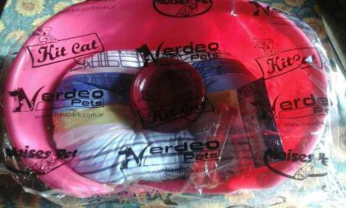 Moises plastico +almohadon +comedero + juguete