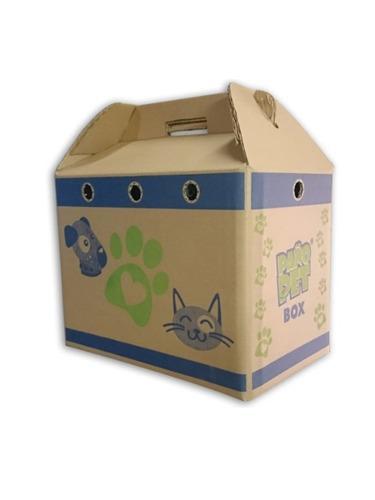 Caja transporte perros gatos carton ecologica paño pet®