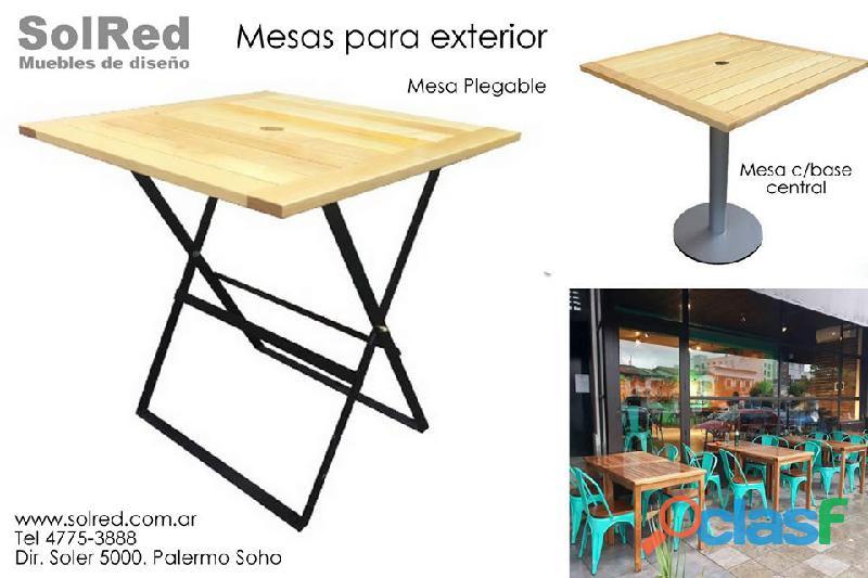 Mesa para espacios exteriores