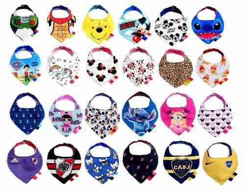 Baberos bandana tricapa minios minnie mickey stitch stones