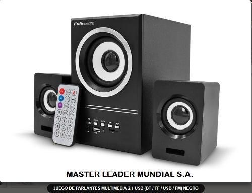 Juego de parlantes multimedia 2.1 usb (bt / tf / usb / fm) n