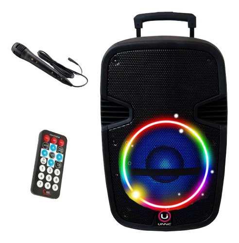 Parlante karaoke 12 portatil bluetooth microfono luces led