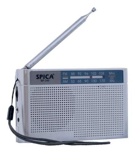 Radio Portatil Spica Sp 340 Am/fm Pilas