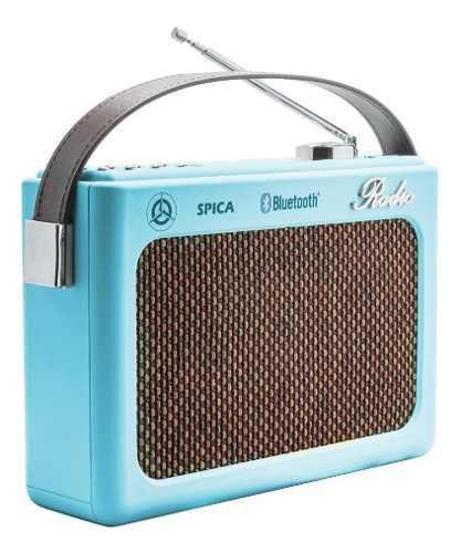 Radio vintage parlante bluetooth portatil spica sp220 am/fm