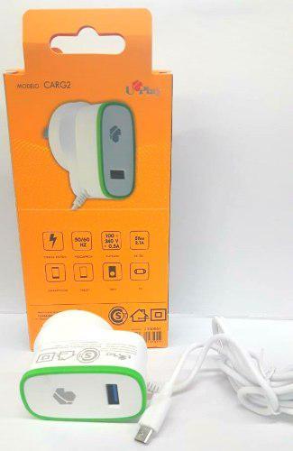 Cargador rapido usb a 220v cable micro usb 2.1a celulares