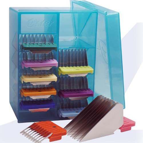 Set 10 peines alzadas color para cortadora perros oster - a5