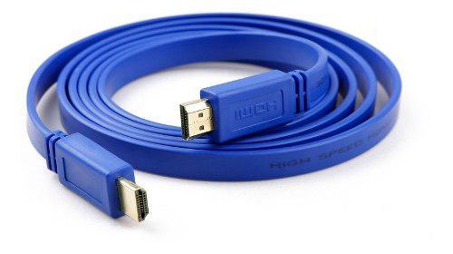 Cable hdmi 3 mtrs a hdmi 1080p full hd ficha oro mallado 1.4
