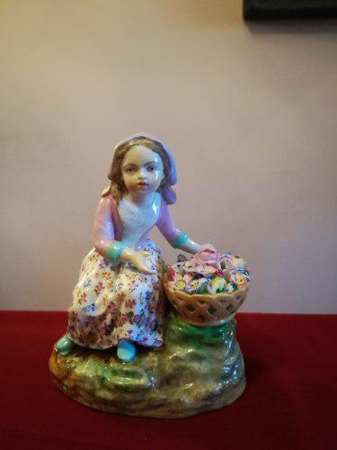 Antigua figura porcelana meissen