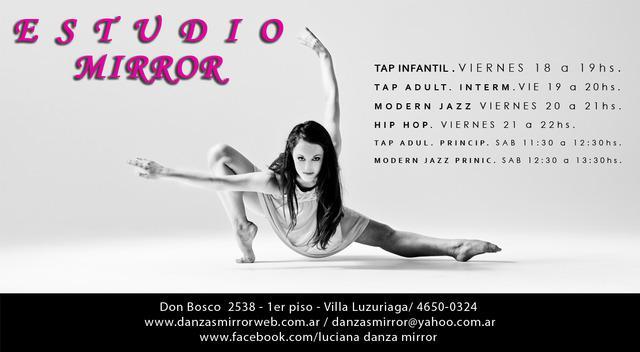 Clases de danza estudio mirror