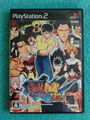Juegos ps2 yu yu hakusho 120 % full power original japones