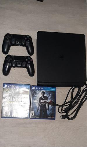 Ps4 playstation4 slim 500gb!2 joystick originales,10 juegos
