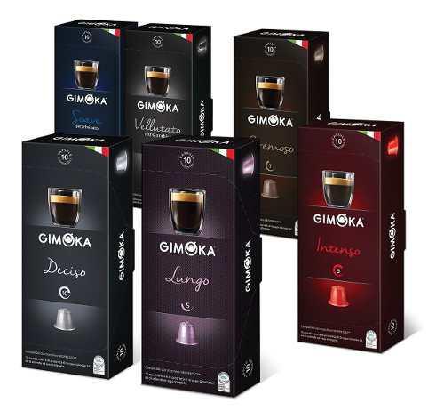 60 cápsulas nespresso compat. gimoka - 2 packs envío
