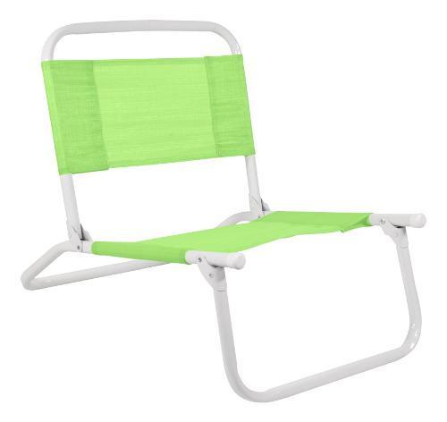 Sillón silla playero playa camping bajo rafia acero pintado