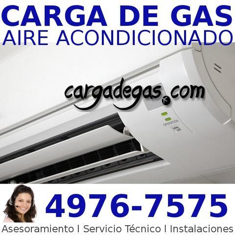 Carga de gas aire acondicionado reparacion instalacion split