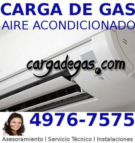 Carga de gas split servicio técnico aire acondicionado