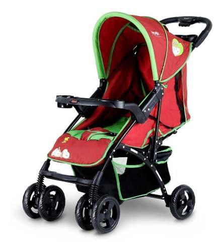Coche De Paseo Bebes Niño Rojo/verde Bebesit 1305