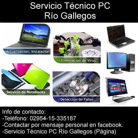 Servicio tecnico pc rio gallegos