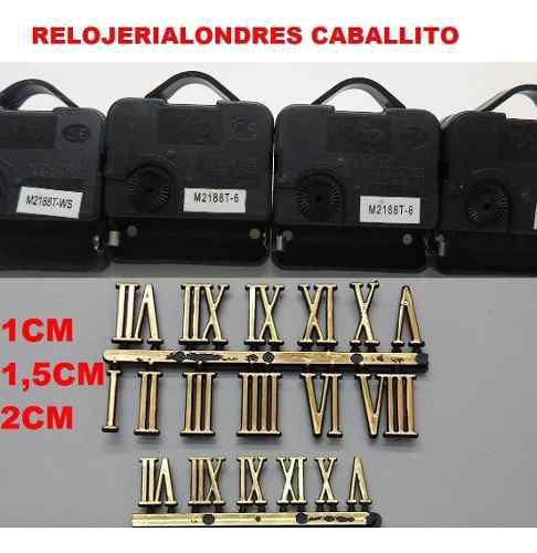 25 maquinas + 25numeros armar relojes,artesanias,souvenirs
