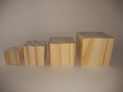 Cubo de madera didactico 4cm x4unidades