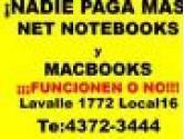 PAGO MÀS EN EL ACTO NET NOTEBOKKS Y MACBOOKS FUNCIONEN O NO