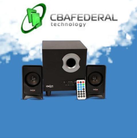 Sistema de audio overtech 2.1 ov-122m c.remoto sd mp3