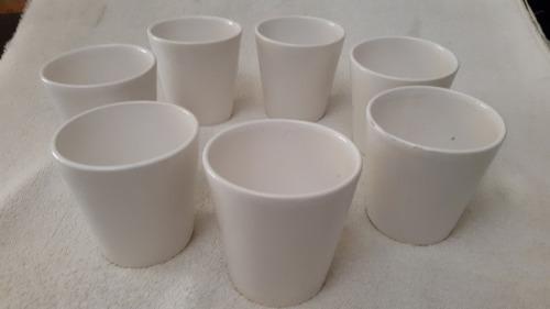 Tazas conicas de ceramica blanca -2 seleccion-