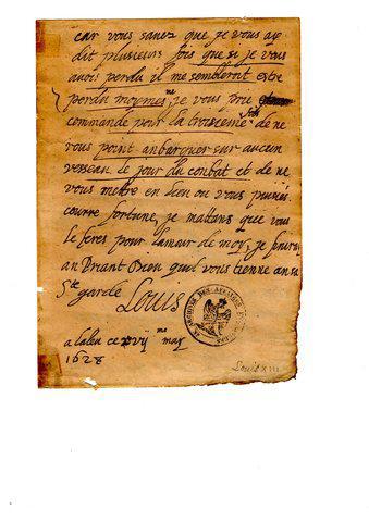 manuscrito del rey louis XIII