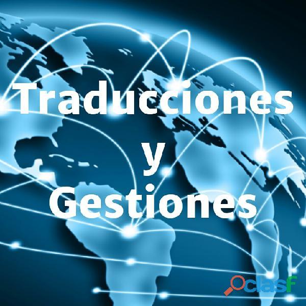 Servicio de traducciones y gestiones