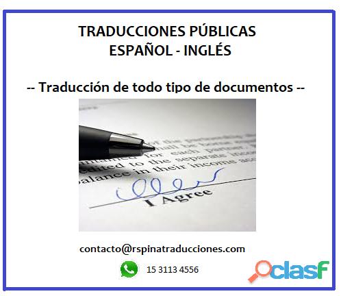Traducciones públicas español   inglés 1