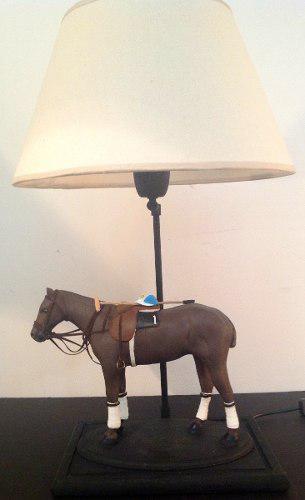 Lámpara caballo artesanal polo carrera criollo regalo