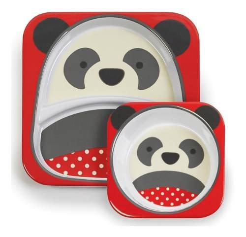 Set plato y bowl melamina diseño dibujos infantil vdp