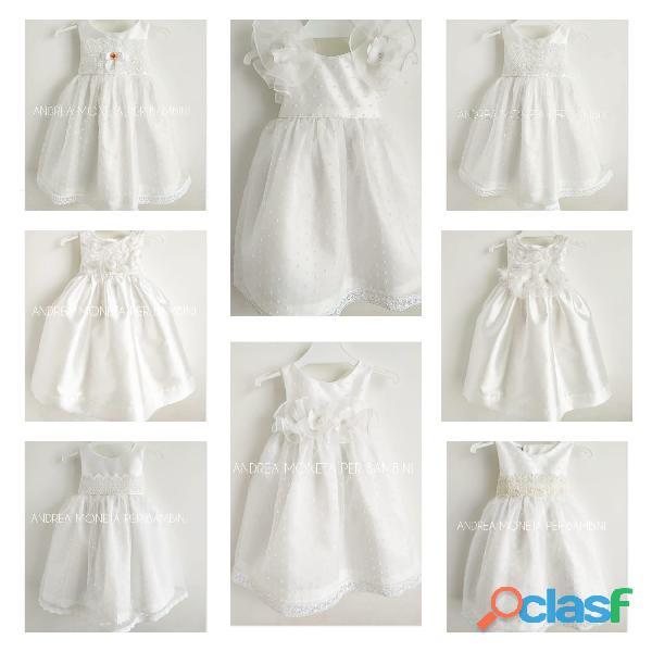 Vestidos blancos de bautismo fiesta cumpleaños beba nena artesanales argentinos andrea moneta