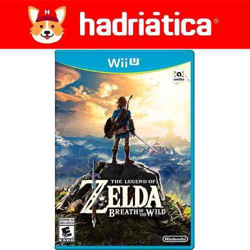 Zelda breath of the wild wii u fisico nuevo sellado