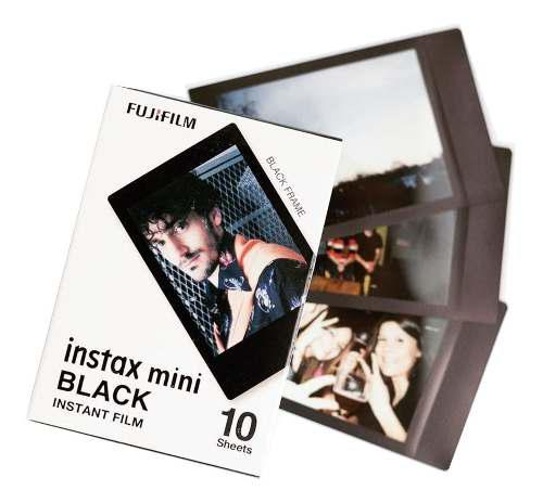 3 Rollos Fujifilm Instax Mini Marco Negro Cuotas