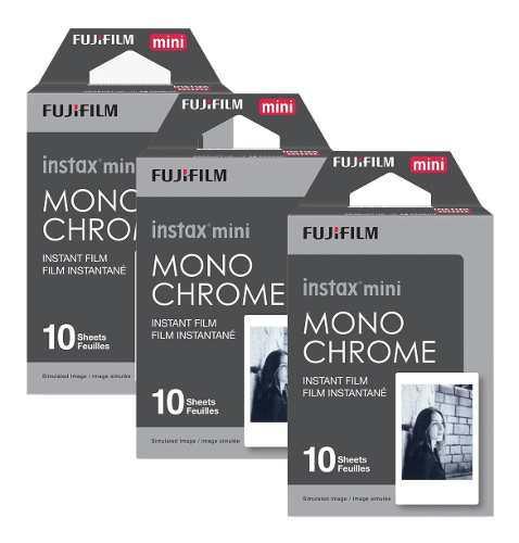 3 Rollos Fujifilm Instax Mini Monochrome Cuotas