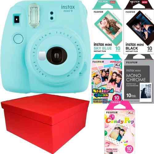 Caja Instax Mini 9 Celeste Hielo 50 Fotos Especiales Nueva