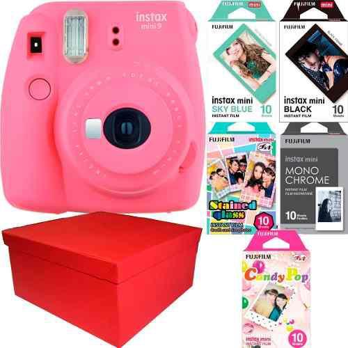Caja Instax Mini 9 Rosa Flamenco 50 Fotos Especiales Nueva