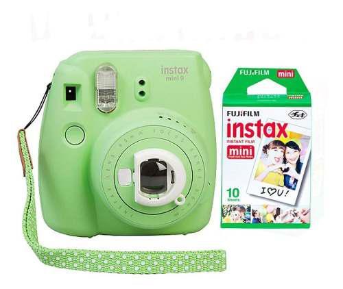 Camara Fuji Instax Mini 9 Verde Selfie 10 Fotos Cuotas
