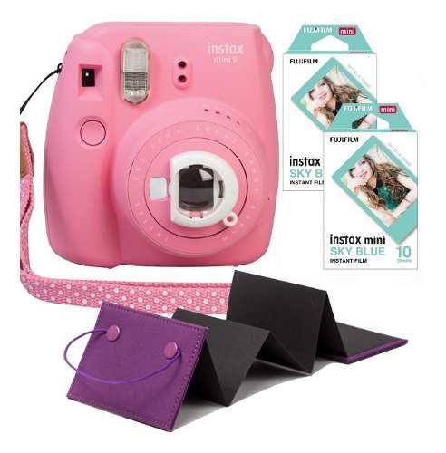 Camara Fujifilm Instax Mini 9 Rosa Flamenco 20 Fotos Album
