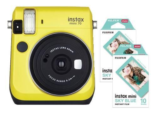 Camara Instax Mini 70 Amarilla Tipo Polaroid 20 Fotos Cuotas