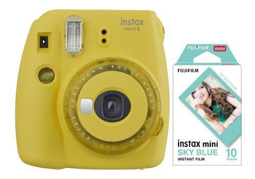 Camara Instax Mini 9 Amarilla Filtros Colores 1 Rollo Cuotas