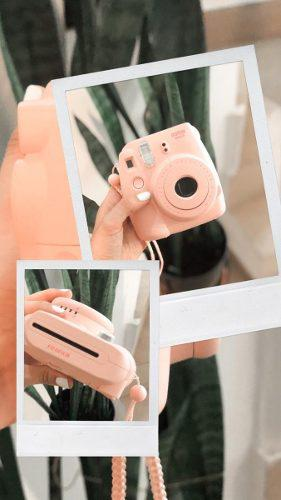 Camara Intax Fujifilm Mini 8 Rosa Usada
