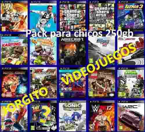 Juegos ps3 carga x 20 titulos chicos lego minecraft plantas
