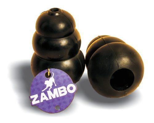 Juguete tipo kong rellenable y resistent zambo perros chicos