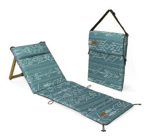Reposera chilly plegable portable liviana playera madera