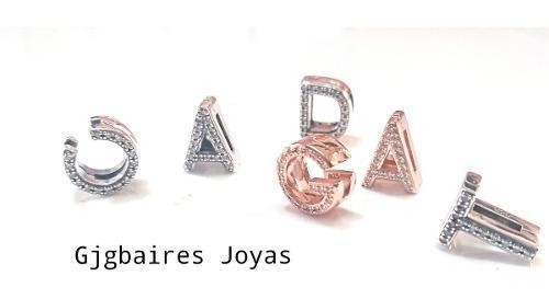 Charms iniciales plata 925 estilo pandora pulsera reflexions