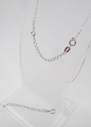 Prolongador cadena/pulsera oro blanco 18k laminado- romminox