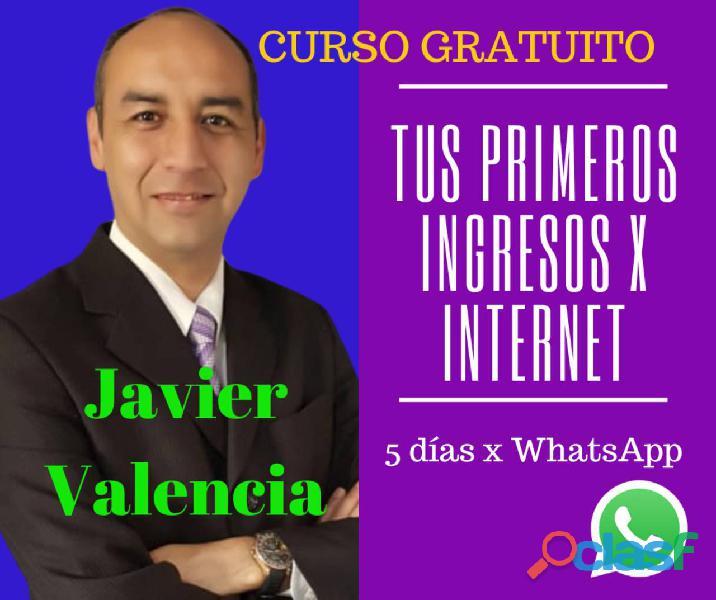 Curso gratuito por whatsapp ingresos por internet