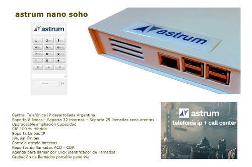 Central ip híbrida astrum nano soho 4 fxo 1 yealink t21